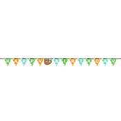 Sloth Party Happy Birthday Banners 12 ct
