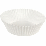 """White Fluted Baking Cups - 6.5"""" 5,000 ct."""