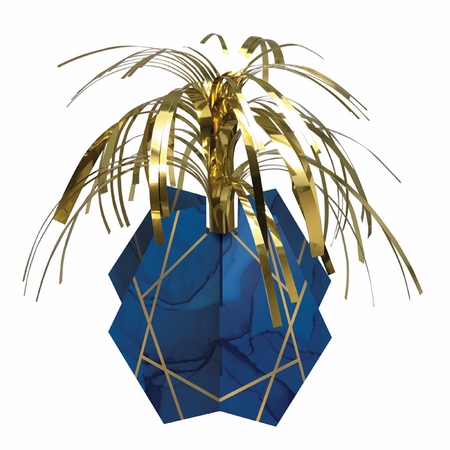 Navy Blue and Gold Foil Centerpieces 6 ct