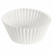 """Brooklace� Kosher certified White 5.5"""" Fluted Bake Cup is sold in bulk quantities of 500 / pkg, 20 pkgs / case"""