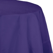 Touch of Color Purple Octy-Round Paper Tablecloths in quantities of 1 / pkg, 12 pkgs / case