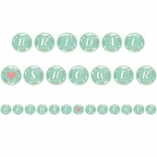 Mint to Be Ribbon Banners 6 ct