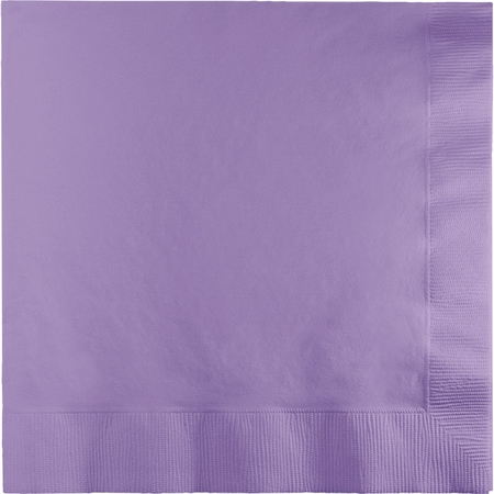 Touch of Color Luscious Lavender 2 Ply Luncheon Napkins in quantities of 50 / pkg, 12 pkgs / case