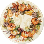 Autumn Wreath Dinner Plates 96 ct