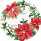 Elegant Poinsettia Dinner Plates 96 ct