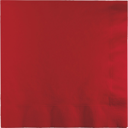 Touch of Color Classic Red 2 Ply Luncheon Napkins in quantities of 50 / pkg, 12 pkgs / case