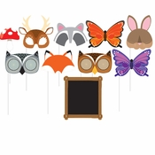 Forest Animal Photo Booth Props 60 ct
