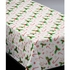 "54"" x 108"" Holiday Happiness White Plastic Tablecloths 12 ct"