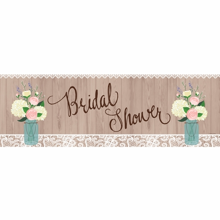 Rustic Wedding Bridal Shower Banners 6 ct
