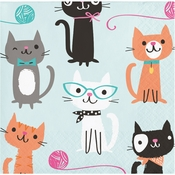 Cat Party Beverage Napkins 192 ct