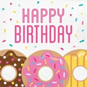 Donut Time Birthday Luncheon Napkins 192 ct