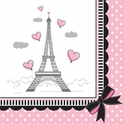 Paris Party Beverage Napkins 216 ct