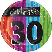 Milestone Celebrations 30th Birthday Dessert Plates 96 ct
