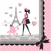 Paris Party Luncheon Napkins 216 ct