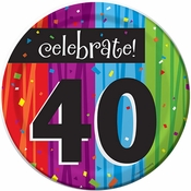 Milestone Celebrations 40th Birthday Dessert Plates 96 ct