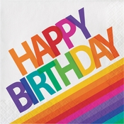 Rainbow Birthday Luncheon Napkins 192 ct