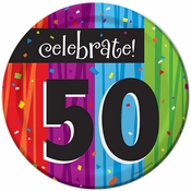 Milestone Celebrations 50th Birthday Dessert Plates 96 ct