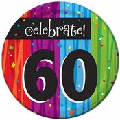 Milestone Celebrations 60th Birthday Dessert Plates 96 ct