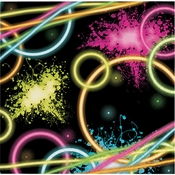 Glow Party Luncheon Napkins 192 ct