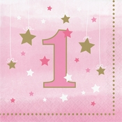 One Little Star Girl 1st Birthday Luncheon Napkins 192 ct