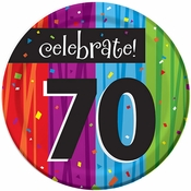 Milestone Celebrations 70th Birthday Dessert Plates 96 ct