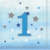One Little Star Boy 1st Birthday Beverage Napkins 192 ct