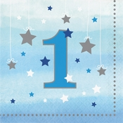 One Little Star Boy 1st Birthday Luncheon Napkins 192 ct