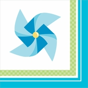 1st Birthday Pinwheel Boy Beverage Napkins 192 ct