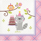 Happi Woodland Girl Beverage Napkins 192 ct
