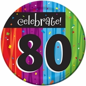 Milestone Celebrations 80th Birthday Dessert Plates 96 ct