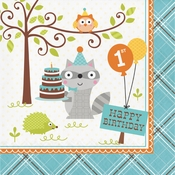 Happi Woodland Boy 1st Birthday Luncheon Napkins 192 ct