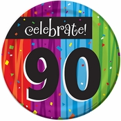 Milestone Celebrations 90th Birthday Dessert Plates 96 ct