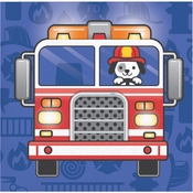 Fire Truck Beverage Napkins 192 ct