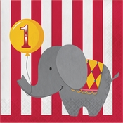 Circus 1st Birthday Luncheon Napkins 192 ct