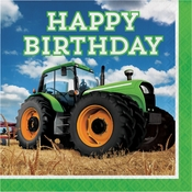 Tractor Time Birthday Luncheon Napkins 192 ct