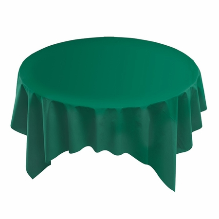 "Hunter Green Linen-Like 82"" x 82"" Tablecloths sold in quantities of 1 / pkg, 12 pkgs / case"