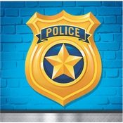 Police Party Beverage Napkins 192 ct