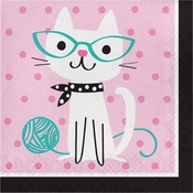 Cat Party Luncheon Napkins 192 ct