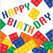 Block Party Birthday Napkins 192 ct