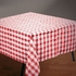 Red Gingham Cellutex Square Paper Tablecloths are sold in quantities of 1 / pkg, 50 pkgs / case