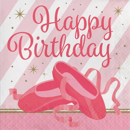 Twinkle Toes Birthday Luncheon Napkins 192 ct