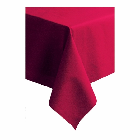 """Red Linen-Like 50"""" x 108"""" Tablecloths are sold in quantities of 1 / pkg, 25 pkgs / case"""