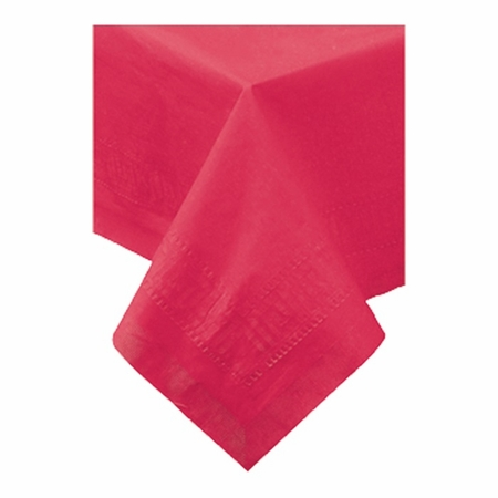"""Red Cellutex 82"""" x 82"""" Paper Tablecloths are sold in quantities of 1 / pkg, 25 pkgs / case"""