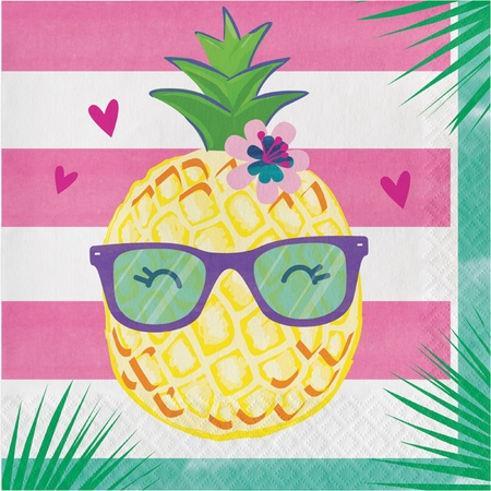 Pineapple Party Luncheon Napkins 192 ct