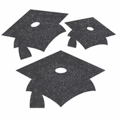 Black Mortarboard Graduation Cutouts 72 ct