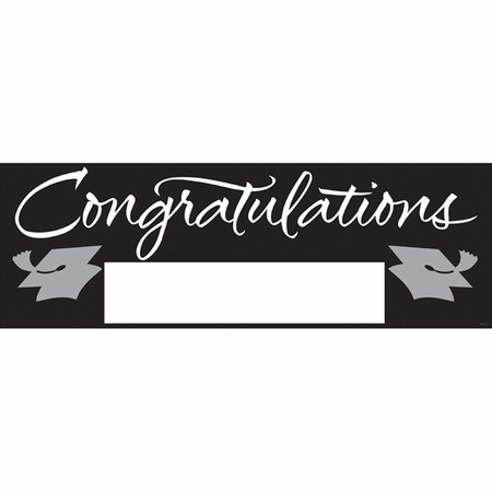 Black Graduation Party Banners 6 ct