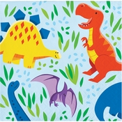 Friendly Dinosaur Beverage Napkins 192 ct