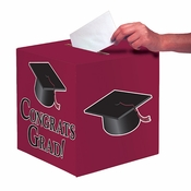 Graduation Card Boxes Burgundy