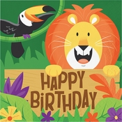 Jungle Safari Happy Birthday Luncheon Napkins 192 ct