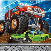 Monster Truck Beverage Napkins 192 ct